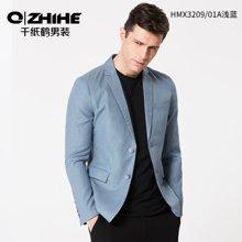 千纸鹤男装春款休闲便西男 青年修身长袖外套男士商务小西装 HMXT3209