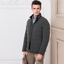 狄亚诺2015冬装新品商务休闲男士中长款修身羽绒服 加绒外套280512