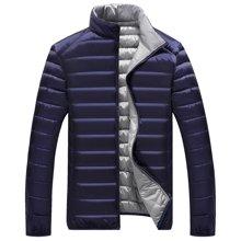 卓狼羽绒服 男士秋冬轻薄型短款双面穿羽绒服立领保暖韩版修身潮外套Y101