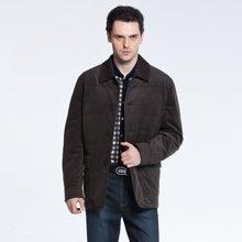 狄亚诺 冬装新品商务休闲男士翻领修身棉衣 外套230305