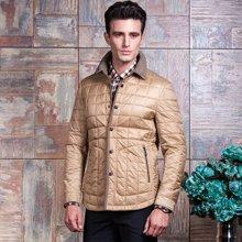 意大利狄亚诺秋季新款中年商务休闲翻领加厚短款棉衣230401