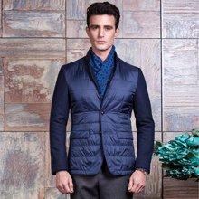 意大利狄亚诺秋季新款短款羊毛中年商务休闲棉衣230408