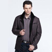 狄亚诺 冬装新品商务休闲中年立领修身男士棉衣棉服 大码外套230312
