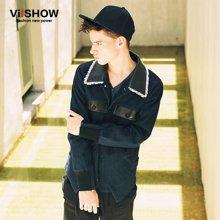 VIISHOW冬款棉衣男士青少年棉服保暖外套 男式修身立领外衣MC17046-1