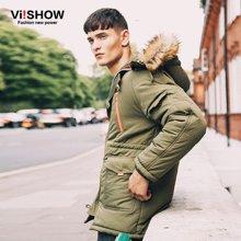 VIISHOW新款棉衣 男士冬季中长款保暖棉服男外套棉袄潮T44-MC241-1