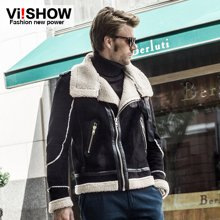 viishow男装男士新款棉服 冬季男外套 短款棉衣外套男欧美风DC06537