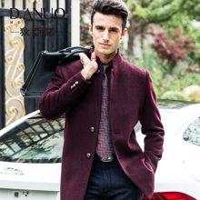 狄亚诺 中老年大衣男 中长款羊毛呢大衣翻领商务休闲大衣外套240598