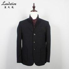 蓝天龙新款男装大衣男短款中年商务休闲男士大衣外套 3840