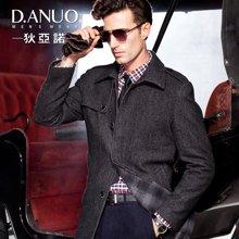 狄亚诺 中老年尼大衣 男士加厚毛呢大衣  商务中长款羊毛外套(240111)
