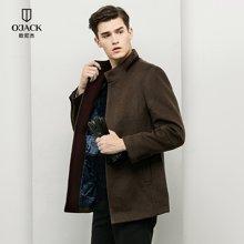OJACK欧尼杰时尚男士羊毛大衣外套秋冬新品中长时尚修身外套 8851