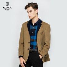 OJACK欧尼杰冬装新款时尚羊毛男士修身单西男外套大衣 8835