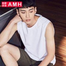 AMH男装韩版2018夏季新款青年休闲学生潮流短袖T恤男PA8162菰
