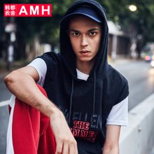 AMH男装韩版2018夏季新款青年休闲学生潮流男士背心男NV7832翼