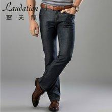 蓝天龙新款 棉混纺直筒牛仔裤长裤 4724
