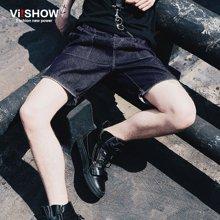 viishow夏季纯棉修身牛仔短裤 欧美时尚五分中裤牛仔裤ND85252