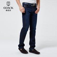 OJACK欧尼杰2017夏季直筒裤长裤青年宽松经典五袋粗纹牛仔裤男XY09110