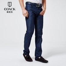 上新OJACK欧尼杰2017夏季男士直筒裤长裤青年宽松牛仔裤男薄款XY09111