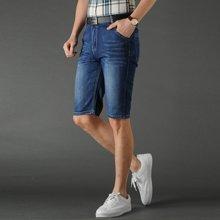 芃拉男款夏季新款牛仔短裤微弹力棉牛仔裤男七分裤修身时尚CLPL6605
