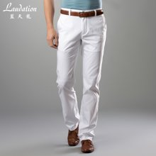 蓝天龙男装直筒休闲裤男 白色裤子商务男裤4727