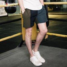 viishow夏装新款短裤 欧美街头拼色休闲短裤男 热裤舒适宽松KD75362