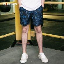viishow夏装短裤 欧美时尚休闲短裤男 印花五分裤沙滩裤KD76762