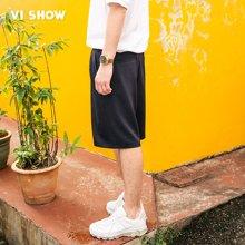 viishow夏季休闲短裤男舒适男士短裤五分裤松紧带绑绳系带裤 KD1205172
