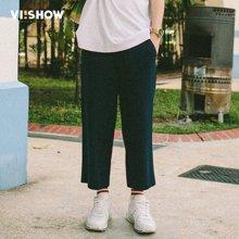 viishow夏季休闲裤男 口袋装饰青春流行七分裤KB1175172