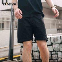 VIISHOW夏装新品休闲牛仔短裤男卷边多袋工装男士五分裤子潮ND1290172