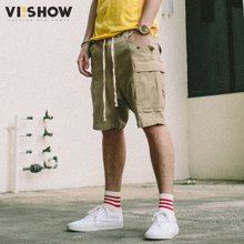 VIISHOW夏装新款休闲短裤男棉质微弹多袋工装男士五分裤子潮KD1228172