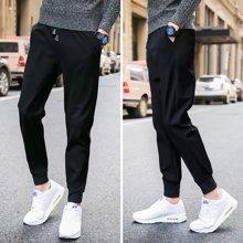 芃拉纯色休闲裤涤95% 氨纶5%上海街拍XFSGK17532