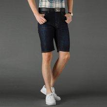 芃拉男款夏季新款牛仔短裤微弹力棉牛仔裤男七分裤修身时尚CLPL171