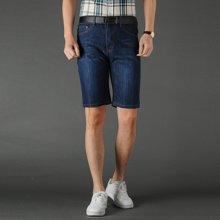 芃拉男款夏季新款牛仔短裤微弹力棉牛仔裤男七分裤修身时尚CLPL172