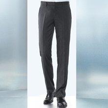 Evanhome/艾梵之家 商务正装西裤男修身型夏季灰色条纹西装裤子男士薄款长裤EVXK095