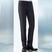 Evanhome/艾梵之家 夏季男士西装裤商务修身款灰色正装西裤免烫提花小脚长裤EVXK111