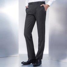 Evanhome/艾梵之家 春秋季免烫男士西裤修身款 英伦商务休闲西装长裤男灰色EVXK022