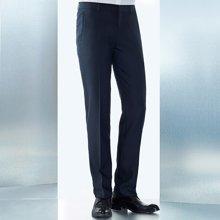 Evanhome/艾梵之家 犀牛褶西裤男修身款蓝色男士天丝西装裤夏季商务西服裤子EVXK117