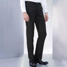 Evanhome/艾梵之家 春秋款男士西裤商务修身型免烫西装裤黑色长裤小脚裤子男EVXK079