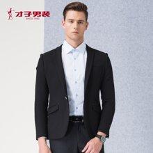 才子男装新款春季新款青年修身黑色西服西装男士婚礼修身便西2166E1571