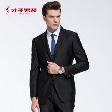 才子男装新款春季新品男士时尚休闲韩版合体单排扣结婚西装西服套装2066E0111