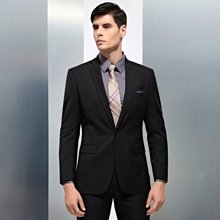 Evanhome/艾梵之家 秋冬厚款职业西装外套男免烫商务男士西服套装修身型黑色EVXF070