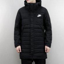Nike/耐克 男子中长款连帽防风保暖运动羽绒服 807394-011