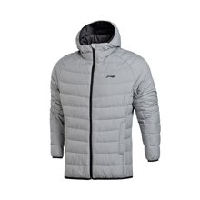 李宁短款羽绒服男士训练系列保暖90%白鸭绒运动服AYMM051