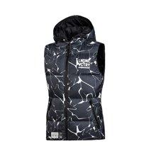 李宁羽绒马甲女士2017新款运动时尚系列保暖宽松冬季白鸭绒运动服AMRM002