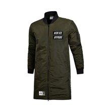 李宁长款棉服男士运动时尚系列防泼水保暖立领运动服AFMM043
