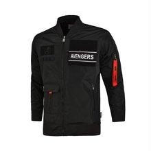 李宁夹克男士漫威系列长袖外套立领茄克上衣男装运动服AJDM039
