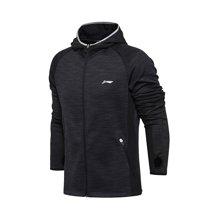 李宁夹克男士跑步系列长袖保暖连帽外套修身运动服AWYM021