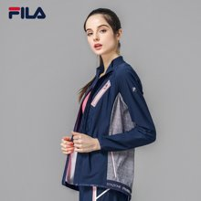 FILA/斐乐 女子拼接设计修身运动针织长袖外套 26734758
