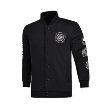 李宁卫衣男士BAD FIVE系列开衫外套保暖立领冬季运动服AWDM611