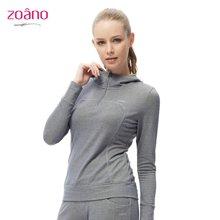 zoano佐纳 女卫衣上衣 休闲健身服 跑步运动服