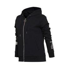 李宁卫衣女士运动时尚系列开衫长袖连帽女装秋季运动服AWDM688